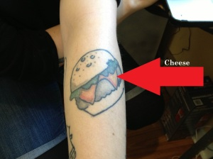 Cheeseburger Tattoo